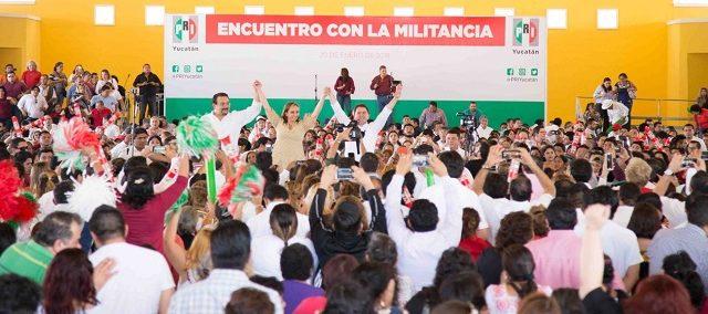 Vamos a ganar con Mauricio Sahuí  y Yucatán mantendrá el rumbo: Claudia Ruiz Massieu