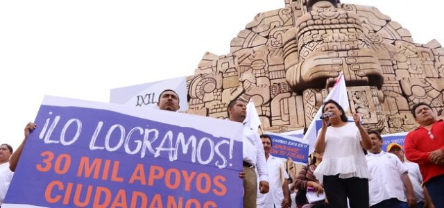Sofía Castro rebasa las firmas solicitadas por el IEPAC