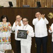 Reconocen trayectoria de la Orquesta Típica Yukalpetén