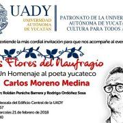 Homenaje a poeta yucateco Carlos Moreno
