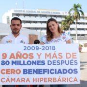 Cámara hiperbárica deja con número rojos a yucatecos y sin atención médica