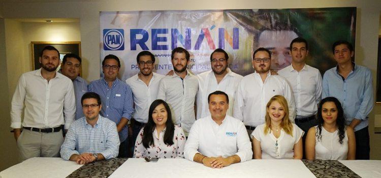 Generaremos facilidades para los emprendedores: Renán Barrera