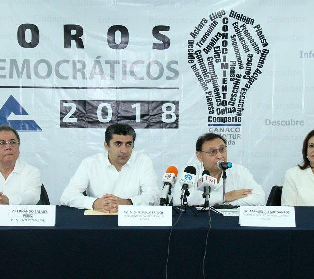 Anuncian la realización de foros electorales en la CANACO Mérida