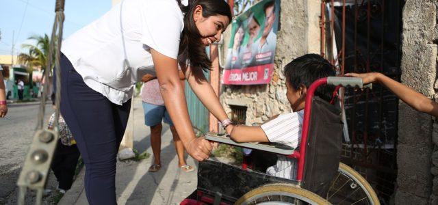 Vida Gómez comprometida con las personas con discapacidad