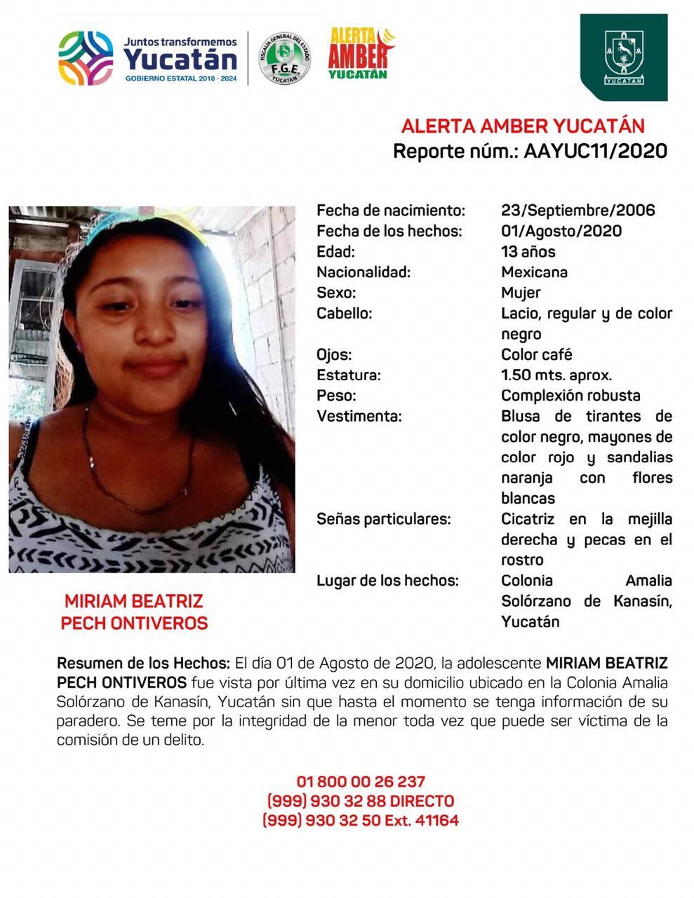Photo of Buscan a adolescente de 13 años en Yucatán