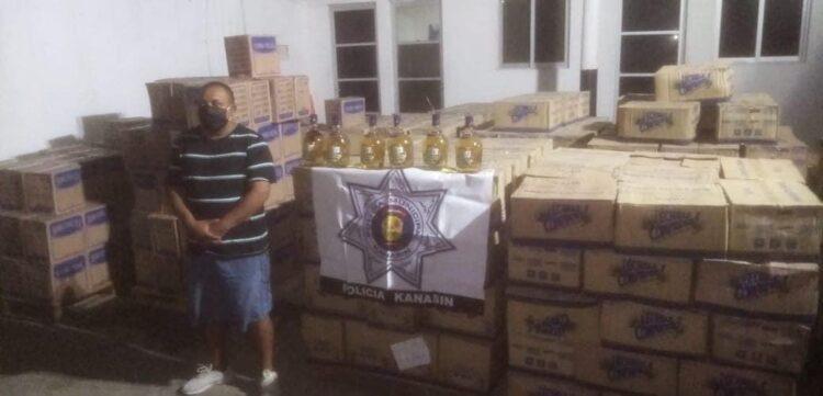 Photo of Decomisan arsenal de licor cerca de Kanasín