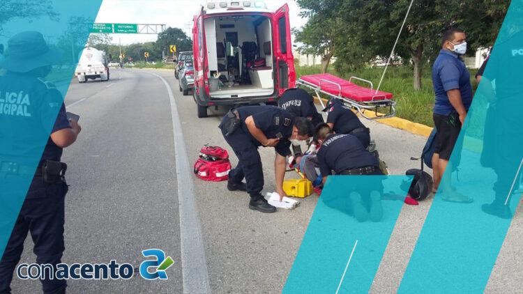 Photo of Atropellan a motociclista en la Conkal- Mérida