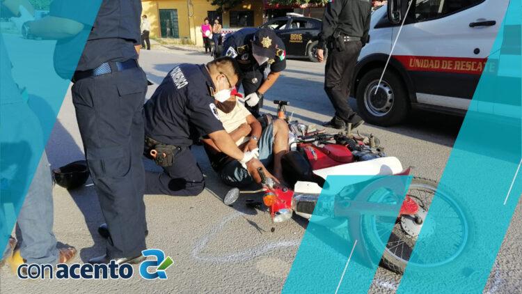 Photo of Padre e hijo son enviados al hospital, tras choque
