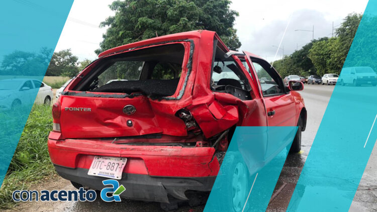 Photo of Fuerte encontronazo, deja un auto destrozado