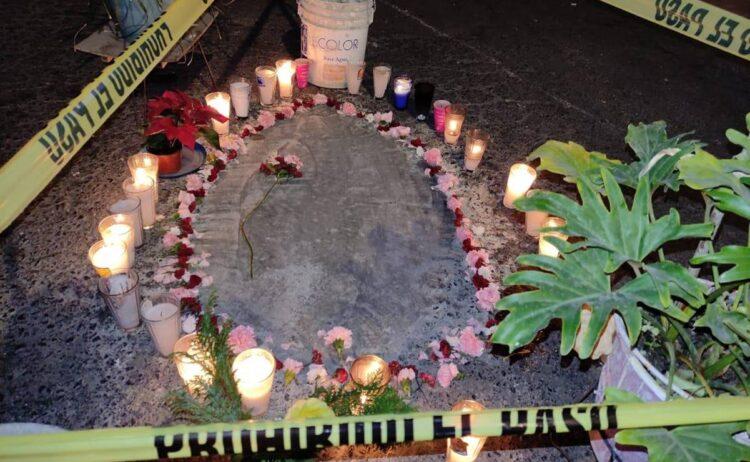 Photo of Silueta de la Virgen de Guadalupe aparece en un bache en Neza