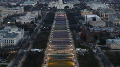 Photo of Miles de banderas de EU sustituirán a las personas en investidura de Joe Biden como presidente
