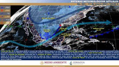 Photo of Conagua prevé para Yucatán lluvias para todo el día por el Frente Frío 26