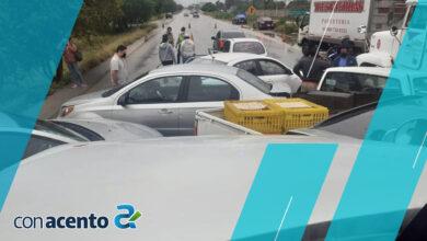 Photo of Impactante carambola en periférico: 9 vehículos involucrados