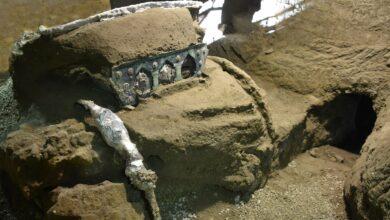 Photo of Encuentran un carro ceremonial romano prácticamente intacto entre las ruinas de Pompeya