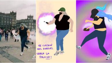 """Photo of """"La Reinota"""", mujer que regresó bomba de humo el 8M y se volvió viral"""