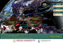 Photo of Probabilidad de chubascos para la península de Yucatán