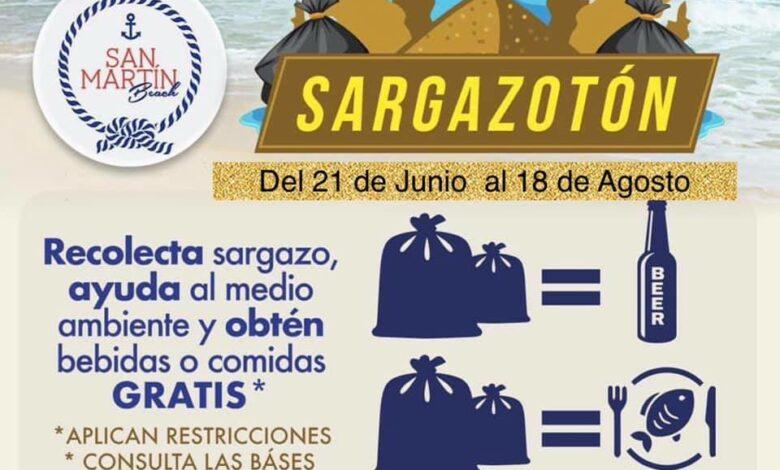Photo of Cerveza y comida gratis a cambio de bolsas llenas de sargazo