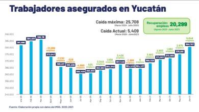 Photo of Sigue la recuperación de empleos en Yucatán, tras la pandemia