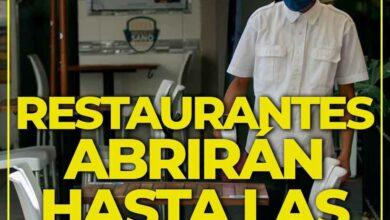Photo of Lunes comienzan a cerrar restaurantes hasta las 11 de la noche