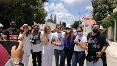 Photo of Niurka se une a las protestas por Cuba en Mérida