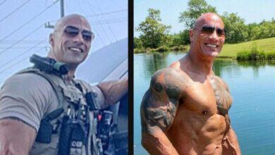 Photo of Policía se vuelve viral por ser igual a 'The Rock'; el actor le invita unos tragos para conocerlo