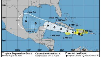 """Photo of La Depresión Tropical """"Grace"""" podría llegar a Yucatán"""