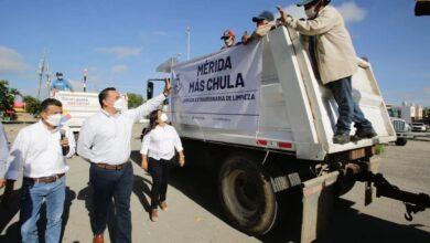 "Photo of Renán Barrera inicia la jornada de limpieza ""Mérida Más Chula"""