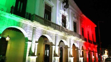 Photo of Iluminan fachada de Palacio de Gobierno por festejos patrios