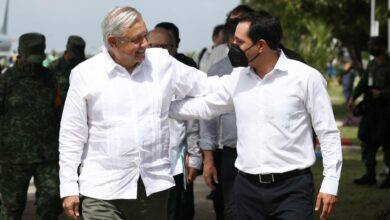 Photo of AMLO llega a Yucatán y supervisa con Vila avances del Tren Maya