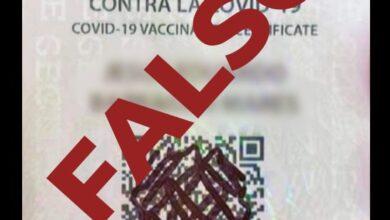 Photo of Circula falsa tarjeta de certificado de vacuna Covid