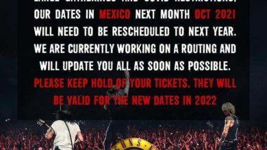 Photo of Guns N' Roses pospone todas sus fechas en México