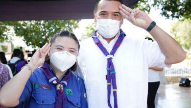 Photo of Akime Carrera, alcaldesa de Mérida por un día en el marco de la semana Scout 2021