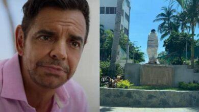 Photo of Critican y vandalizan estatua de Eugenio Derbez en Acapulco